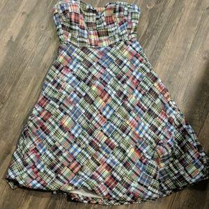 J crew checkered dress size 6